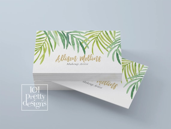 tropical business card design modern business card botanical