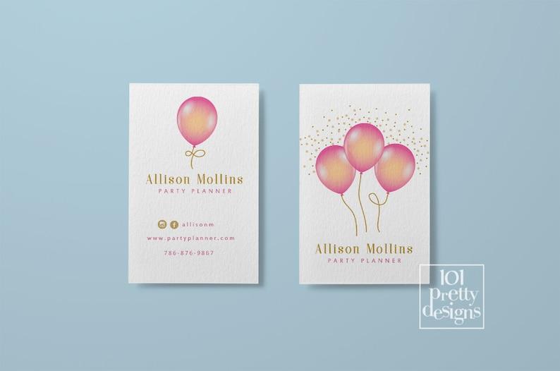Ballons Cartes De Visite Imprimer Carte Design Party