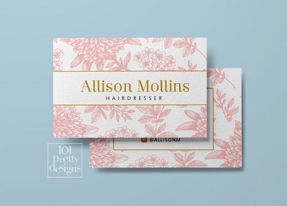 Floral business card design flowers business card template etsy image 0 cheaphphosting Gallery