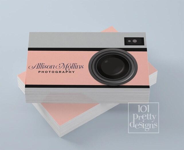 Photographer business card design camera business card etsy image 0 colourmoves