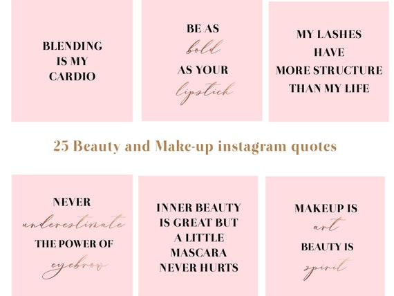 25 beauty and makeup instagram quotes makeup social media posts makeup  artist instagram posts pack