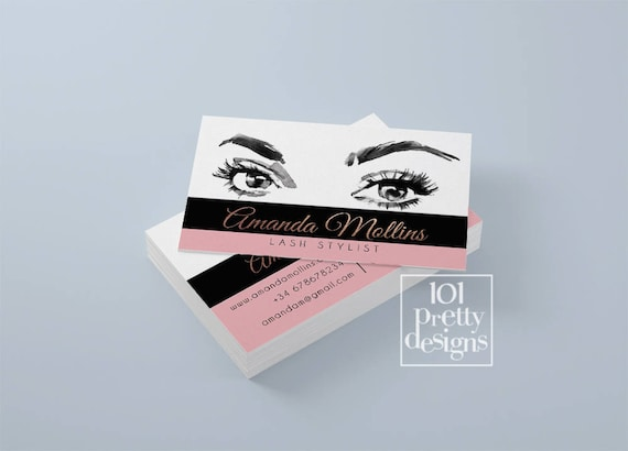 il_570xn - Lash Extension Business Cards