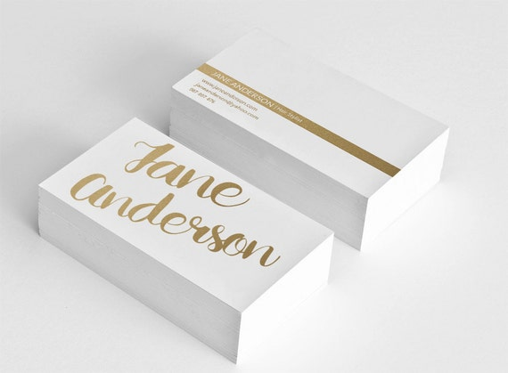 Golden business card template hair stylist business card etsy image 0 cheaphphosting