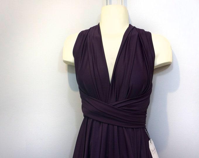 SALE : Dark purple long convertible dress