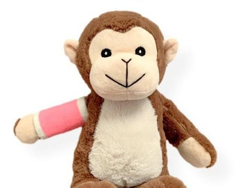Broken Arm Monkey (Multiple Colors) Higgy Monkey Broken Arm Cast; Hospital Gift; Broken Arm Gift; Bear with Broken Arm; Get Well Soon Gift;