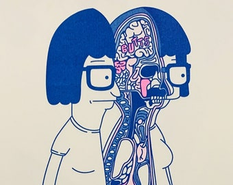 Dissected Tina Belcher Riso Print