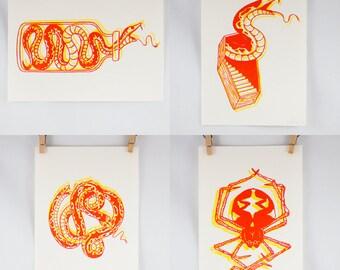 Tattoo Flash Riso Print Set