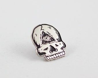 Third Eye Skull Enamel Pin