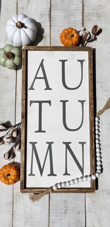 Autumn sign/ fall sign/ fall decor/ home decor/ wall decor ...