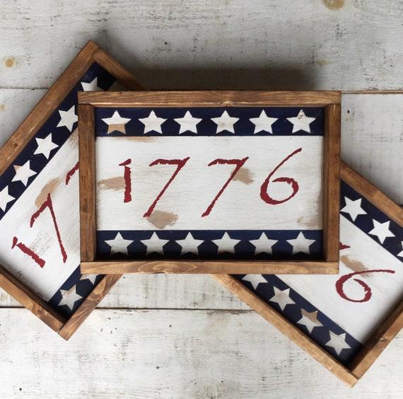 Gifts For A Farmhouse Decor Fan: Americana Decor/ Patriotic Decor/ 1776/ Farmhouse Decor