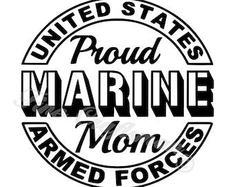 Marine mom svg | Etsy