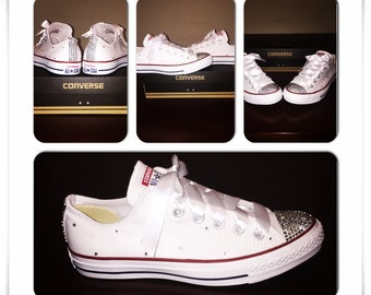 White Bedazzled Converse 53b125bb80