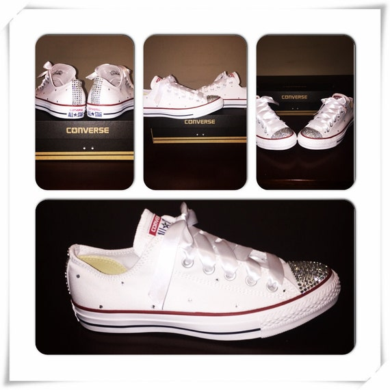 White Bedazzled Converse  444417ef04