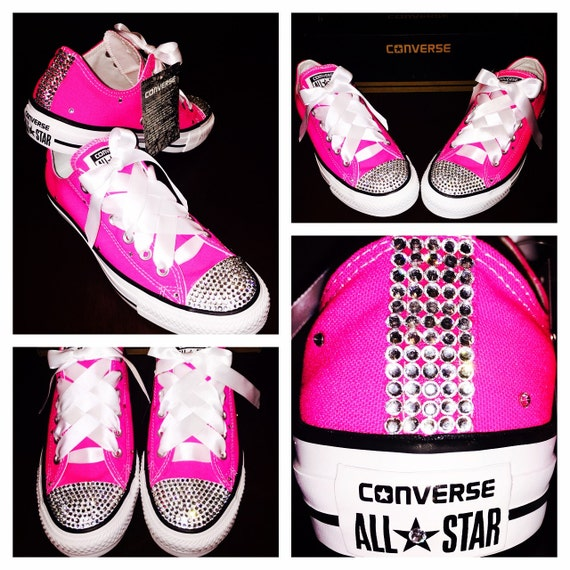 4c42f81b03a3 Bedazzled Pink Converse