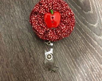 Ruffle flower badge reel