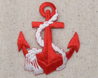 Lot 2 Pcs Gold Marine Anchor,Life Ring,Cross Embroidery Iron On Applique Patch