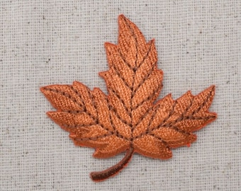 Iron-on Patch Burnt Orange and Blue Palms