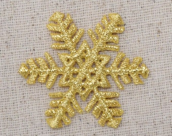 XR33   BLACK BEADED SNOWFLAKE APPLQIUE CRAFTS ~ 3.25/""