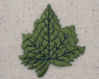 Tree Leaf - Green - Embroidered Patch - Iron on Applique - AP-254685