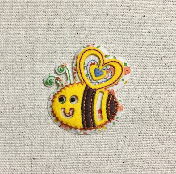 Yellow Bumble Bee 3d Puffy Cut Out Design Iron On Applique Etsy