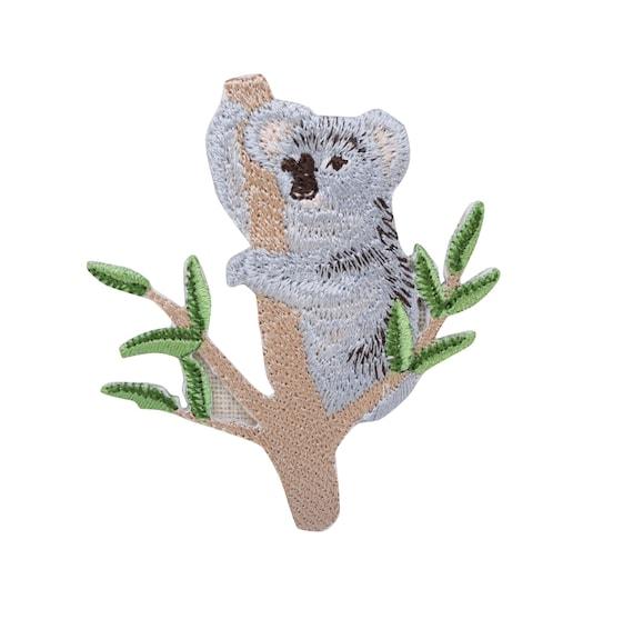 Small Koala bear on Tree Iron on Applique Patch