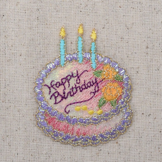 Happy Birthday Cake Candles Shimmery Pink And Purple Etsy