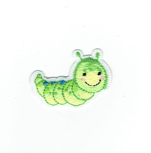 Childrens Shimmery Caterpillar Applique Patch Iron on