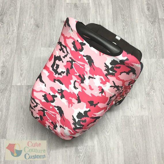 Pink Camouflage Carseat Cover Universal Replacement Canopy