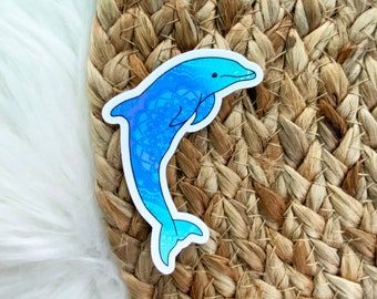 Dolphin Sticker, Animal Sticker, Sea life Sticker, Laptop Stickers, Water bottle Stickers, Waterproof Stickers