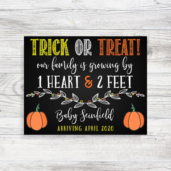 Halloween Pregnancy announcement  Fall Pregnancy Announcement