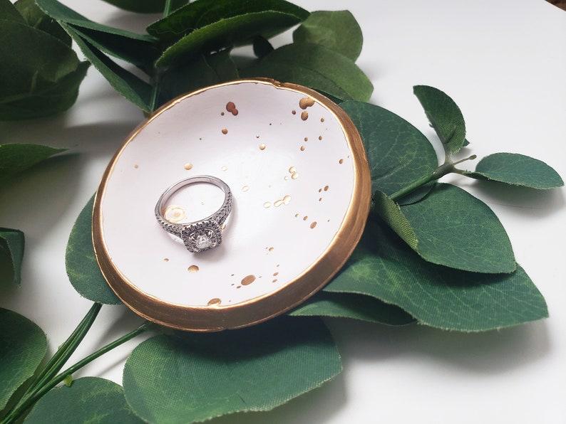 Jewelry Dish Splatter Ring Dish Engagement Ring Holder Trinket Dish Wedding Ring Dish Ring Holder Engagement Gifts