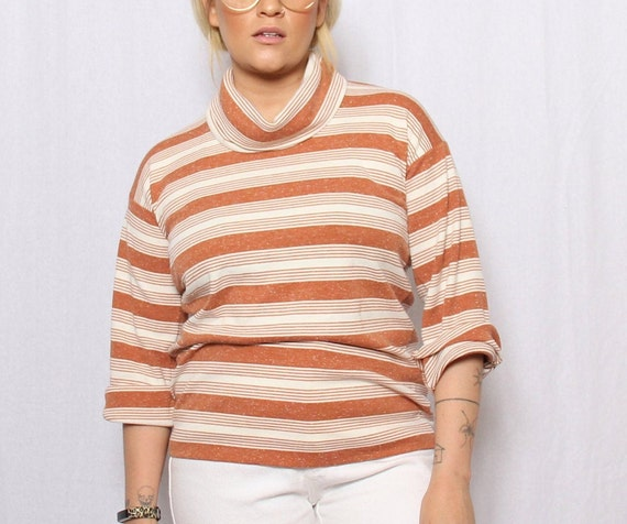 70/'s vintage cowlneck sweater