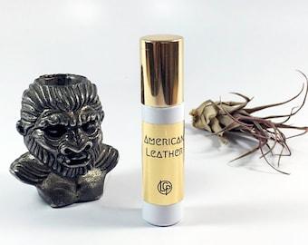 AMERICAN LEATHER / perfume oil / leather, immortelle, oakmoss / handmade leather fragrance