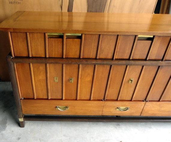 Wonderful MID CENTURY MODERN 2 Piece Hutch Hickory Furniture | Etsy