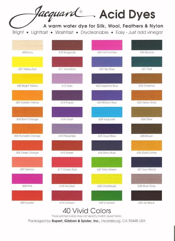 5.08x5.08x6.35 cm Jacquard Products Scarlet Acid Dyes Multicolour Acrylic