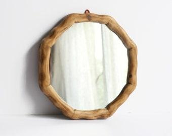 "11"" Wooden Wall Mirror - Nautical Porthole Mirror - Octagonal Reclaimed Wood Mirror - Home Decor - Waldorf"