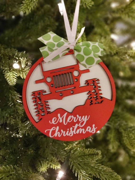 Jeep Christmas Ornament.Jeep Christmas Ornaments Merry Christmas Jeep Ornament Merry Jeepmas Ornament