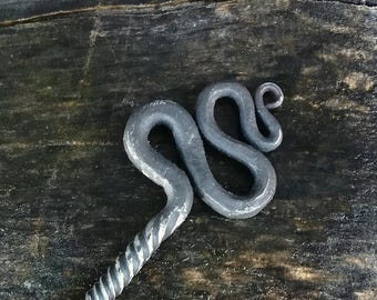 Handforged hairpin, Blacksmith hairpin