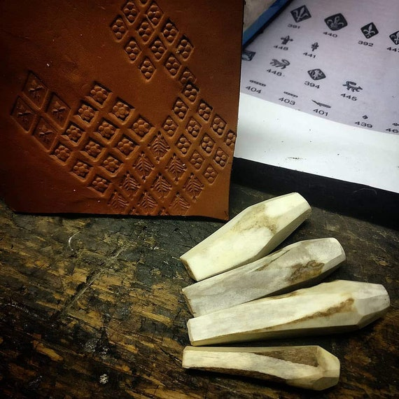 Custom Made Antler Stamps Leather Stamp 15th Century