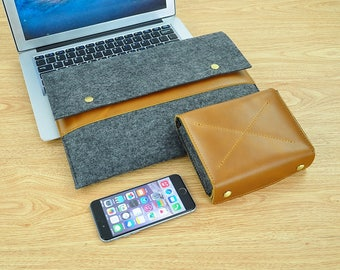 10.5 iPad Pro Felt Sleeve for New iPad Pro,9.7 iPad Pro,12.9iPad Pro Case Leather New iPad Case New iPad 2017 Case iPad Air Sleeve -TFL155