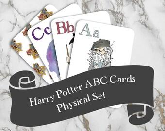Harry Potter ABCs | Physical Set | Nerdy Baby Gift | Harry Potter Baby | Alphabet Flashcards | Harry Potter Kids | Harry Potter Nursery