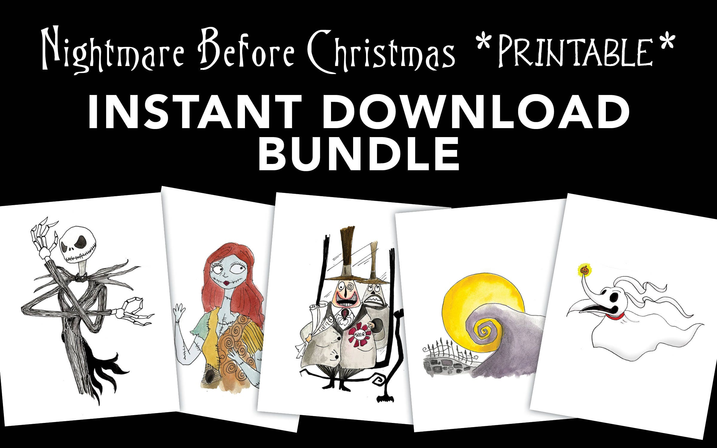 Nightmare Before Christmas Printable Instant Download