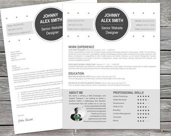 Modern Cover Letter plus Resume Template for Creatives