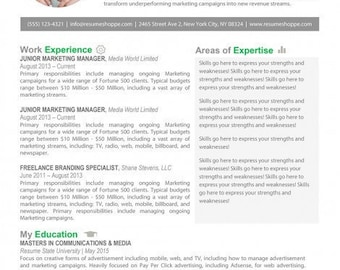 Unique Resume Template in Green and Grey for Word and Pages