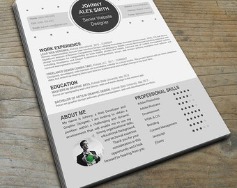 Modern Resume Template for Creative Careers