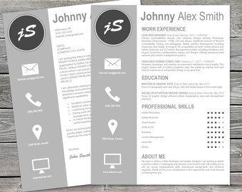 Artistic Cover Letter and Resume Templates | Instant Download | Showcase your Creativity!