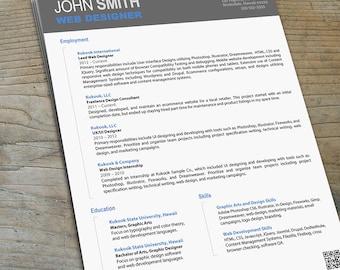 Artistic Resume for Designers - Modern Resume Template
