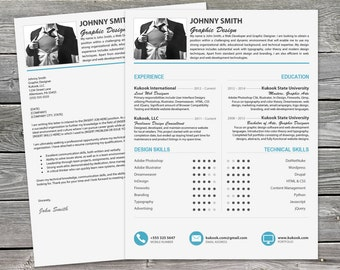 Beautiful Resume Template and Cover Letter - Instant Download