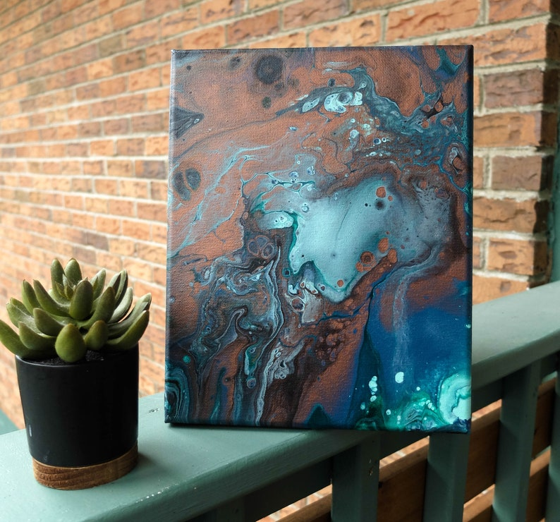 Original Abstract Fluid Pour Painting
