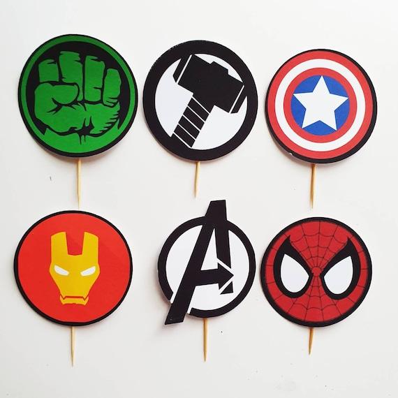 Captain America Cupcake Sprinkles Mix Cake Toppers Decoration Avengers Superhero